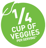 1/4 cup of veggies per serving*