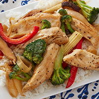 Easy orange chicken strip stir fry
