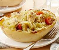 Chicken Pesto Squash Bowls