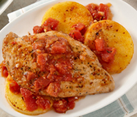 Gluten Free Chicken with Tomatoes and Polenta