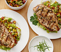 Grilled Cilantro Lime Chicken with Corn Salsa