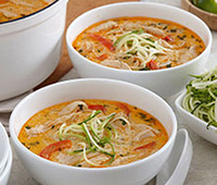 Easy Thai Coconut Chicken Soup