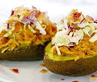 BBQ Chicken Avocado Boats