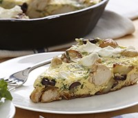 Chicken Frittata with Kalamata Olives