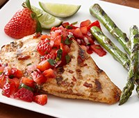 Chipotle Lime Grilled Chicken with Strawberry Salsa