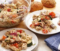 Grilled Ratatouille with Chicken and Quinoa