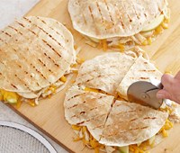 Grilled Chicken Quesadillas with Apple and Cheddar