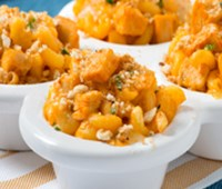 Bite-Sized Buffalo Chicken Mac n' Cheese