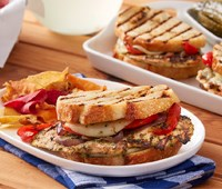 Grilled Vegetable and Chicken Pesto Panini