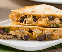 Creamy Buffalo Chicken and Black Bean Quesadillas