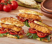 Chicken Corn Fritter Sandwiches