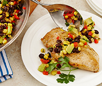 Sauteed Chicken and Black Bean Salsa