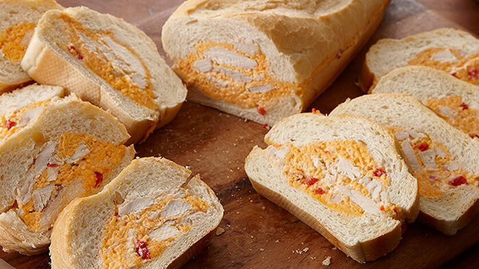 Chicken Pimiento Cheese Stuffed Bread