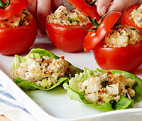 Grilled Chicken Quinoa Lettuce Cups