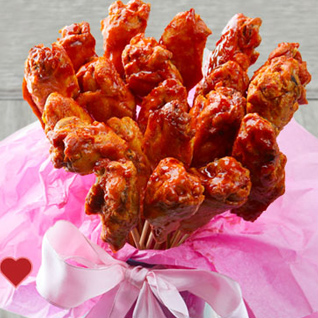 "Wings Before Rings—Say ""I Love You"" with a Chicken Bouquet"