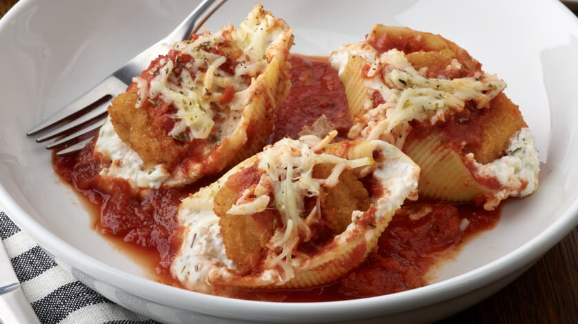 Chicken Nugget Stuffed Shells