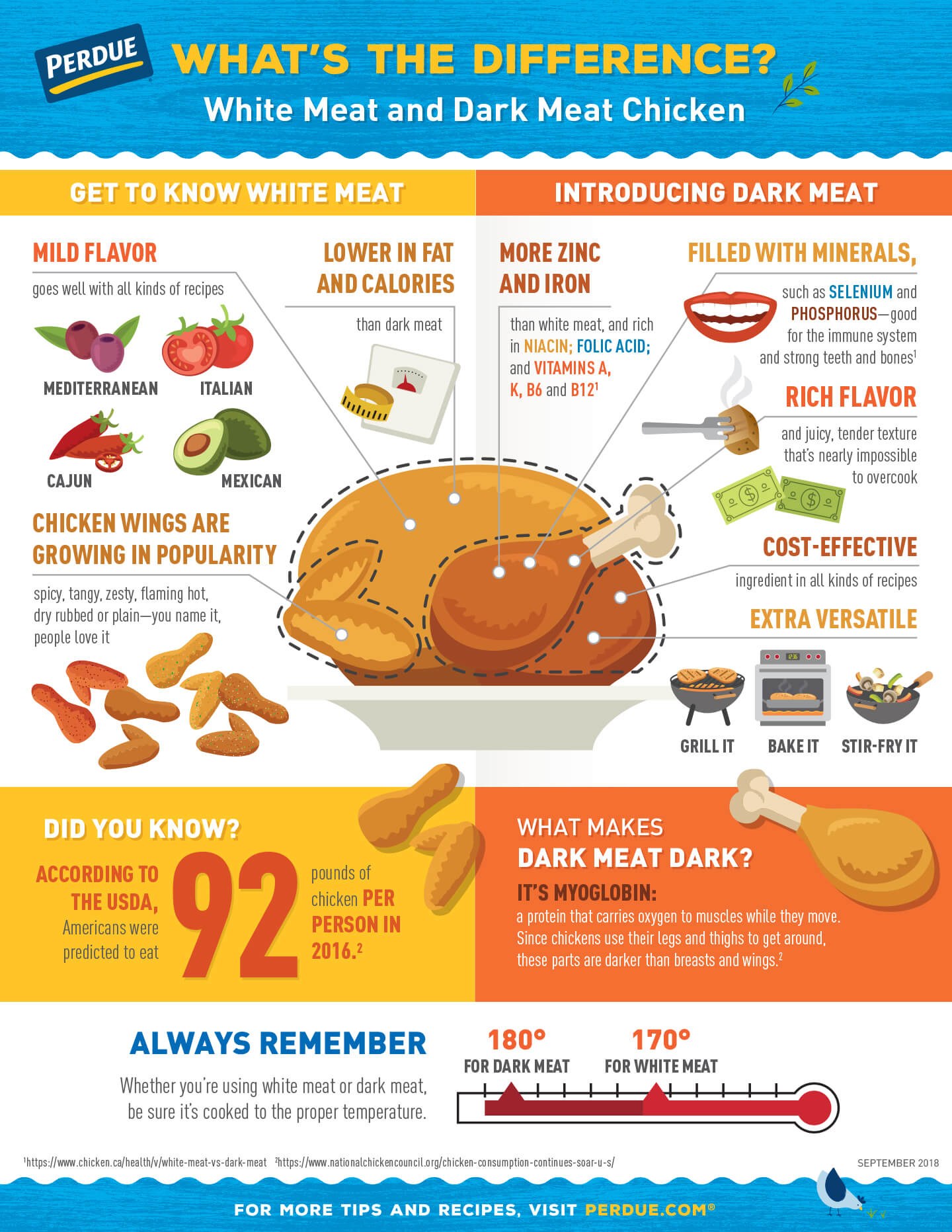 White Meat vs Dark Meat Infographic