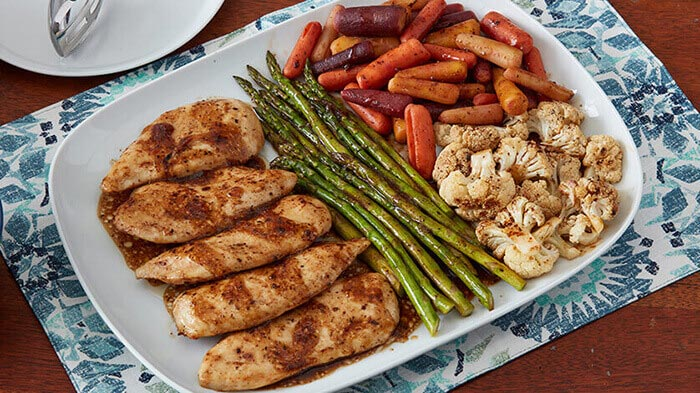 Balsamic Sheet Tray Chicken with Vegetables