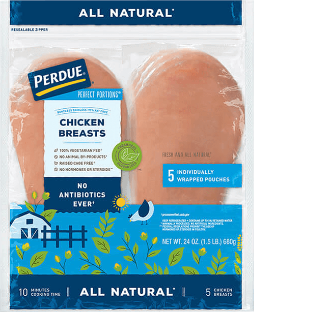 PERDUE® PERFECT PORTIONS® BONELESS, SKINLESS CHICKEN BREAST