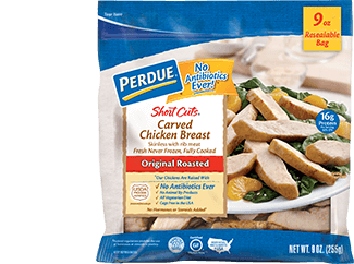 PERDUE® SHORT CUTS® CARVED CHICKEN BREAST, ORIGINAL ROASTED