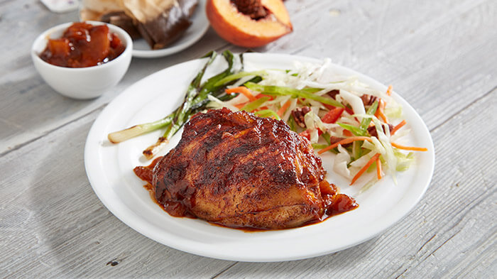 Sweet Tea Brined Grilled Chicken with Peach BBQ Sauce