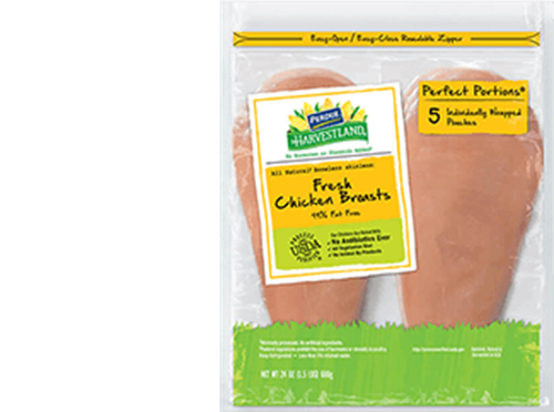PERDUE® HARVESTLAND® PERFECT PORTIONS® Boneless, Skinless Chicken Breast, Individually Wrapped