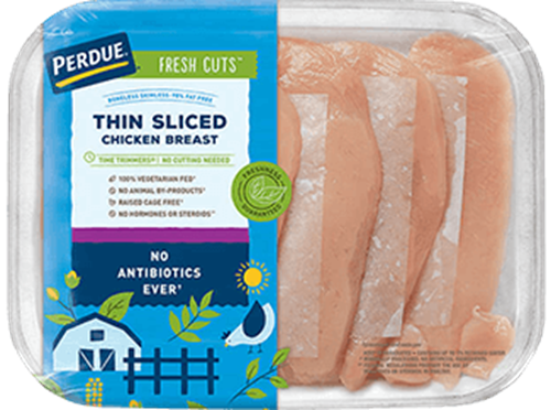 PERDUE® FRESH CUTS™ Thin Sliced Boneless Skinless Chicken Breasts