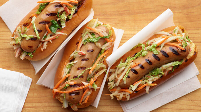 Grilled Chicken Apple Sausage with Mustard Slaw