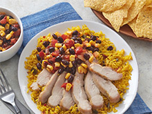 Skillet Chicken with Chipotle Corn Salsa