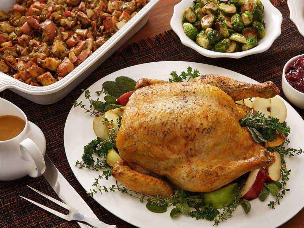 Holiday Roast Chicken and Stuffing