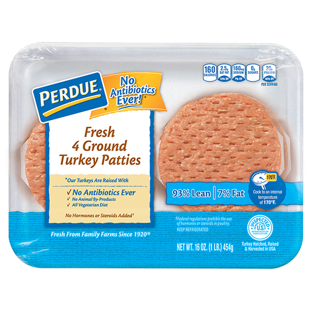 PERDUE® Fresh Ground Turkey Patties (1 lb.)