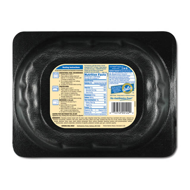Refrigerated Breaded Chicken Breast Cutlets (12 oz.)