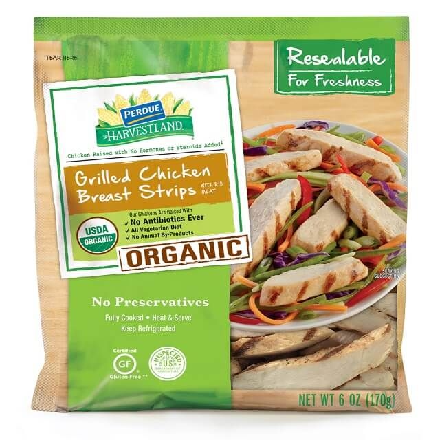 PERDUE® HARVESTLAND® Organic Gluten Free Grilled Chicken Breast Strips