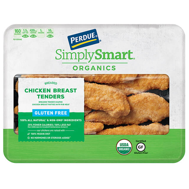 PERDUE® SIMPLY SMART® ORGANICS Gluten Free Breaded Chicken Breast Tenders (11.2 oz.)