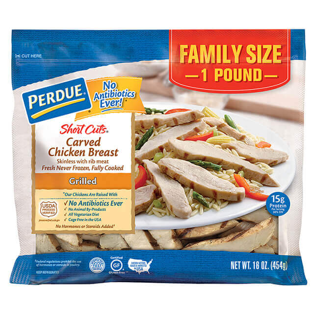 PERDUE® SHORT CUTS® Carved Chicken Breast, Grilled, (16 oz.)