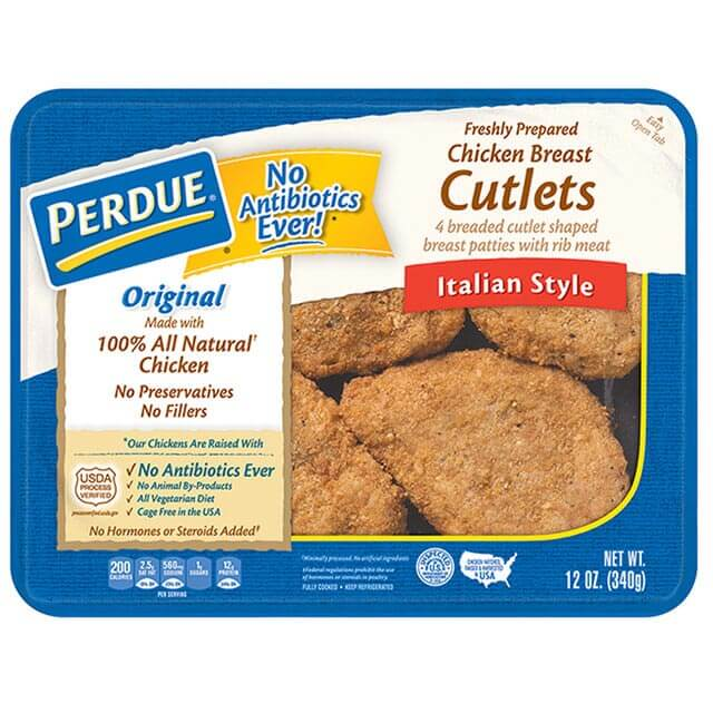 PERDUE® Refrigerated Italian Style Breaded Chicken Breast Cutlets (12 oz.)