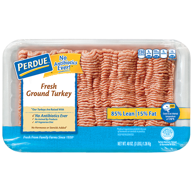 PERDUE® Fresh Ground Turkey, 85% Lean (3 lbs.)