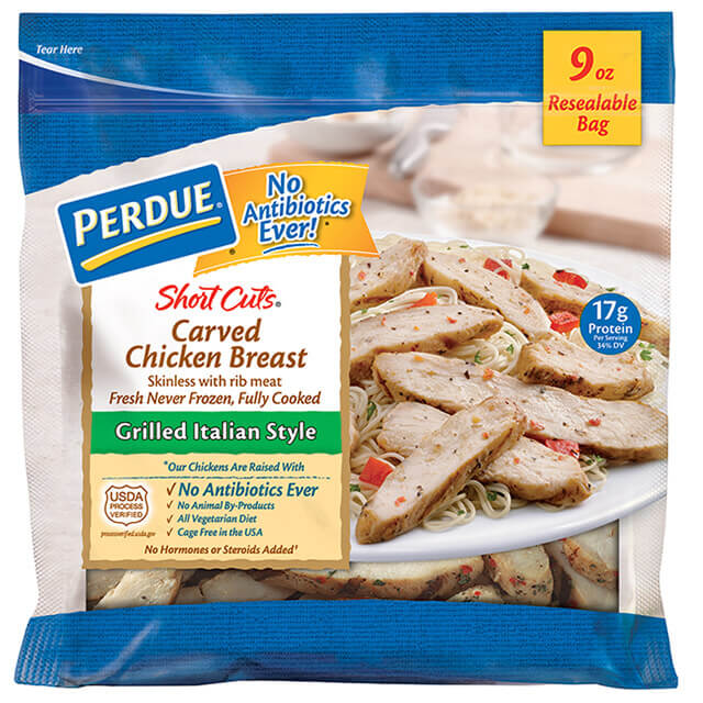 PERDUE® SHORT CUTS® Carved Chicken Breast, Grilled Italian Style (9 oz.)