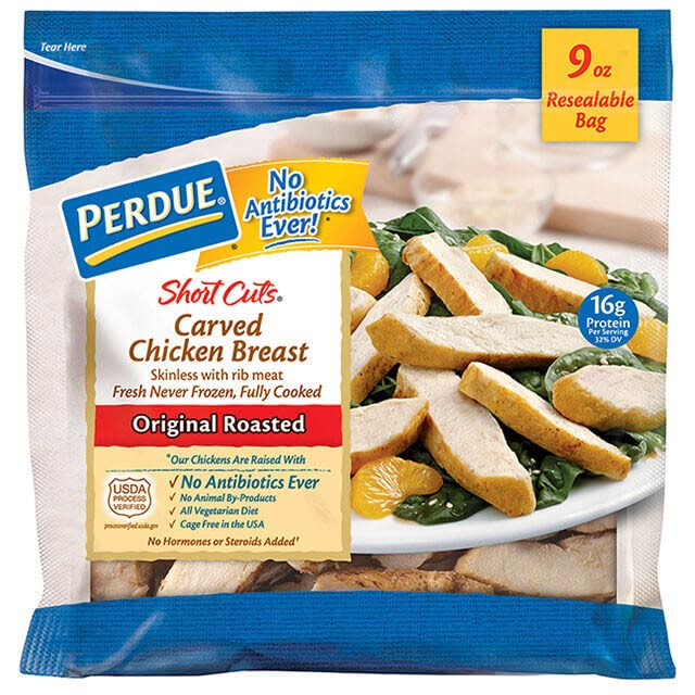PERDUE® SHORT CUTS® Carved Chicken Breast, Original Roasted (9 oz.)
