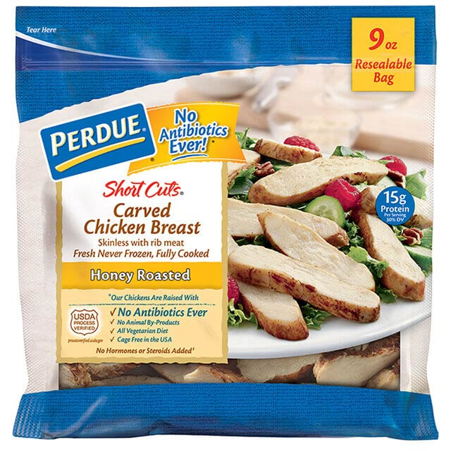 PERDUE® SHORT CUTS® Carved Chicken Breast, Honey Roasted (9 oz.)