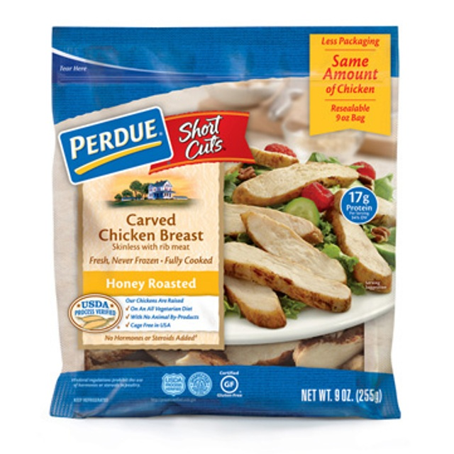 Perdue 174 Short Cuts 174 Carved Chicken Breast Honey Roasted 9 Oz Perdue 174