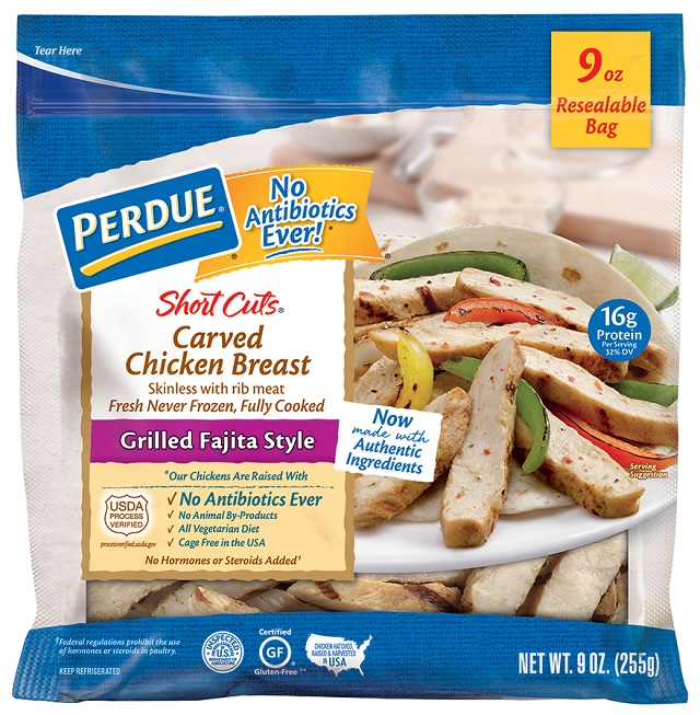 PERDUE® SHORT CUTS® Carved Chicken Breast, Grilled Fajita Style (9 oz.)