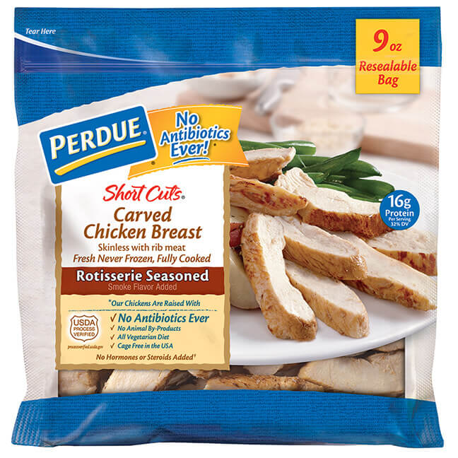 PERDUE® SHORT CUTS® Carved Chicken Breast, Rotisserie Seasoned (9 oz.)