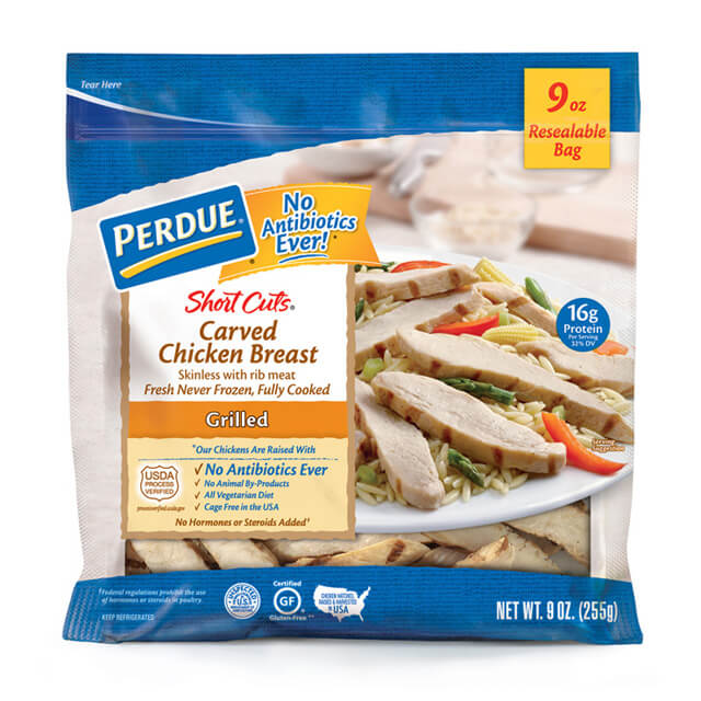 PERDUE® SHORT CUTS® Carved Chicken Breast, Grilled (9 oz.)