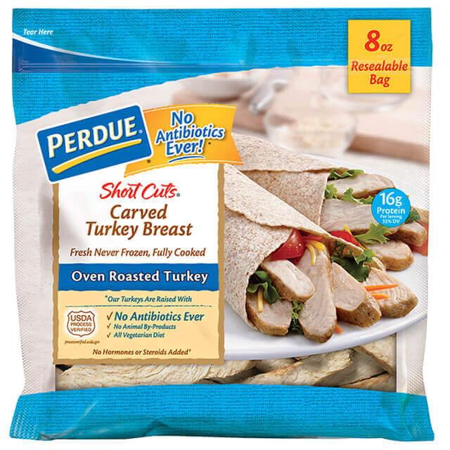 PERDUE® SHORT CUTS® Carved Turkey Breast, Oven Roasted (8 oz.)