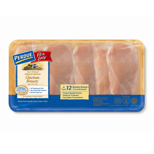 PERDUE® FIT & EASY® Boneless, Skinless Chicken Breasts, 6 Individually Wrapped, for Clubs