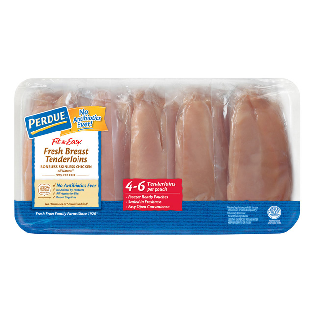 PERDUE® FITt & EASY® Fresh Boneless Skinless Chicken Breast Tenderloins, Individually Wrapped, for Clubs