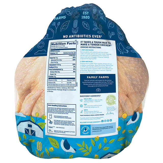 Fresh Whole Chicken with Giblets, Twin Pack