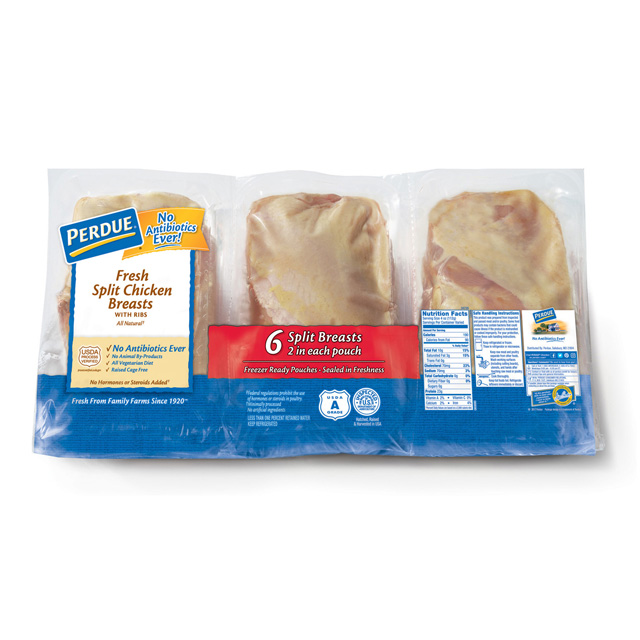 PERDUE® Fresh Split Chicken Breasts (Half-pack Saddle Pack)