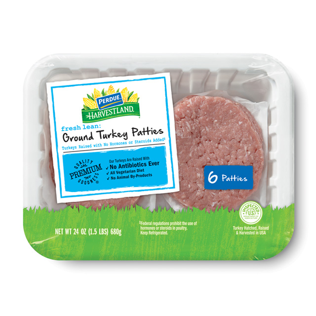 PERDUE® HARVESTLAND® Fresh Ground Turkey Burgers